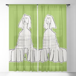 The great sphinx of Giza Sheer Curtain