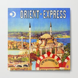 Retro travel poster — Istanbul, Metal Print