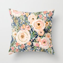 SINGER-SONGWRITER Romantic Floral Throw Pillow