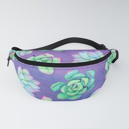 Bright Floral Succulents Fanny Pack