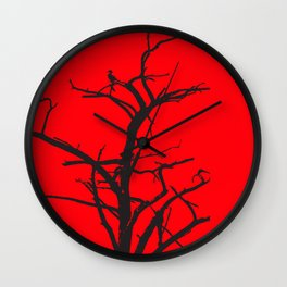 Illusion in black and red Wall Clock