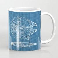 falcon Mugs featuring Millennium II by Vickn