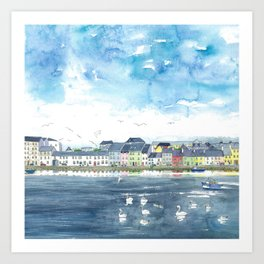 Long Walk, Galway Art Print