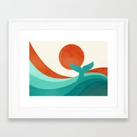 wave Framed Art Prints featuring Wave (day) by Jay Fleck