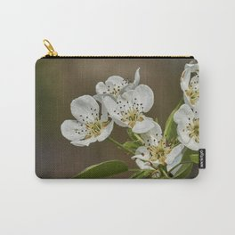 pear flower on tree Carry-All Pouch