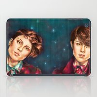 tegan and sara iPad Cases featuring Tegan & Sara by Miriam R. Kent