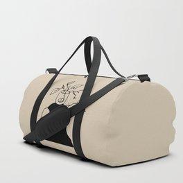 Plants and meditation - Linen Duffle Bag