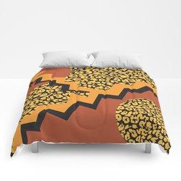 Leopard 80's pattern Comforters
