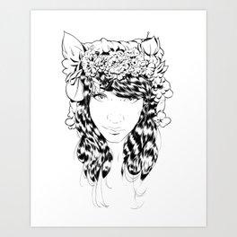 Hippy Girl Art Print