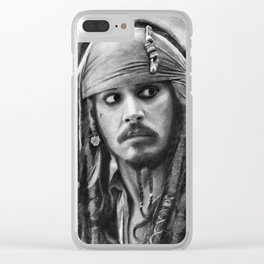 Jack Sparrow Clear iPhone Case