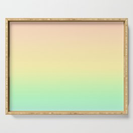 Pastel Rainbow Gradient Pattern Serving Tray