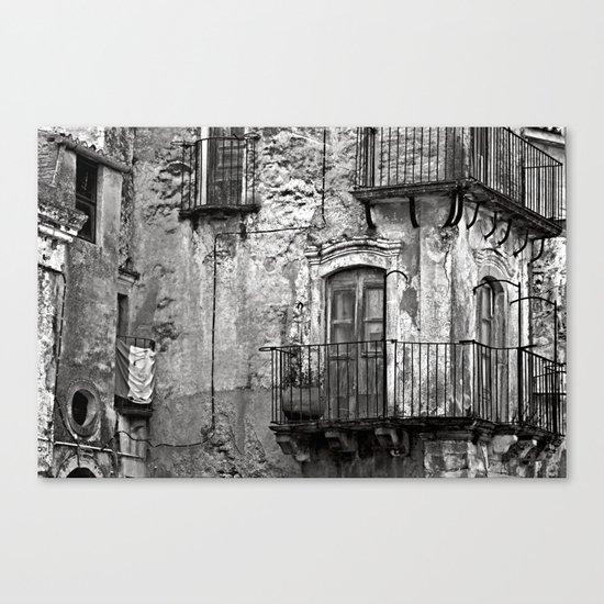 SICILIAN MEDIEVAL FACADE Canvas Print