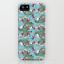 Colorful Hand Drawn Abstract Pattern iPhone Case