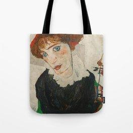 Portrait of Wally by Egon Schiele Tote Bag