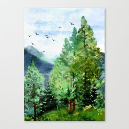 Mountain Forest Canvas Print