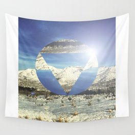 Snowy Earth Wall Tapestry