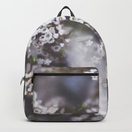 The Smallest White Flowers 01 Backpack