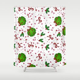Chistmas kissing decor Shower Curtain