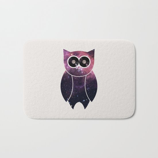 Owl Night Long Bath Mat