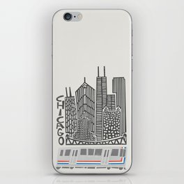 Chicago Cityscape iPhone Skin