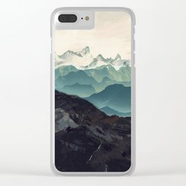 Shades of Mountain Clear iPhone Case