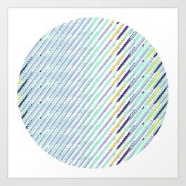 Green Drops of Time Art Print