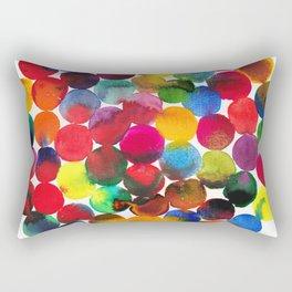 Colored Circles in watercolor Rectangular Pillow