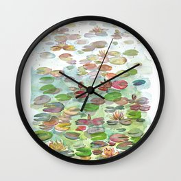 Waterlily II Wall Clock