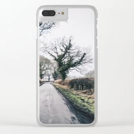 middle of the road in UK Clear iPhone Case