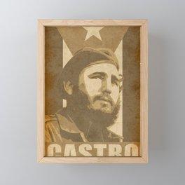 Fidel Castro Propaganda Poster Framed Mini Art Print