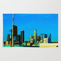 cityscape Area & Throw Rugs featuring Cityscape by Life Of A Lens Studios