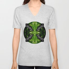 Zebra Butterfly Unisex V-Neck