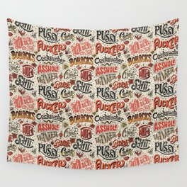 Naughty Words Wall Tapestry