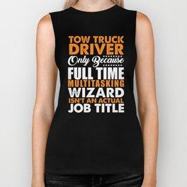 Tow Truck Driver Wizard Biker Tank