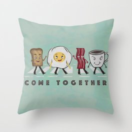 Come Together Throw Pillow