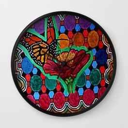 Cindy's Butterfly Wall Clock