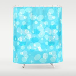 Celebratory background with bokeh. Shower Curtain
