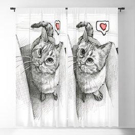 Cute Kitty Cat - Love Me Blackout Curtain