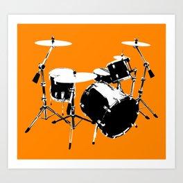 Drumkit Silhouette (frontview) Art Print