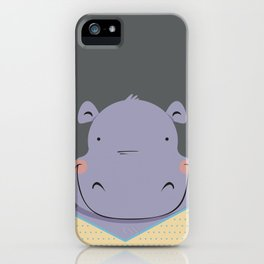 Hippo in pajamas iPhone Case