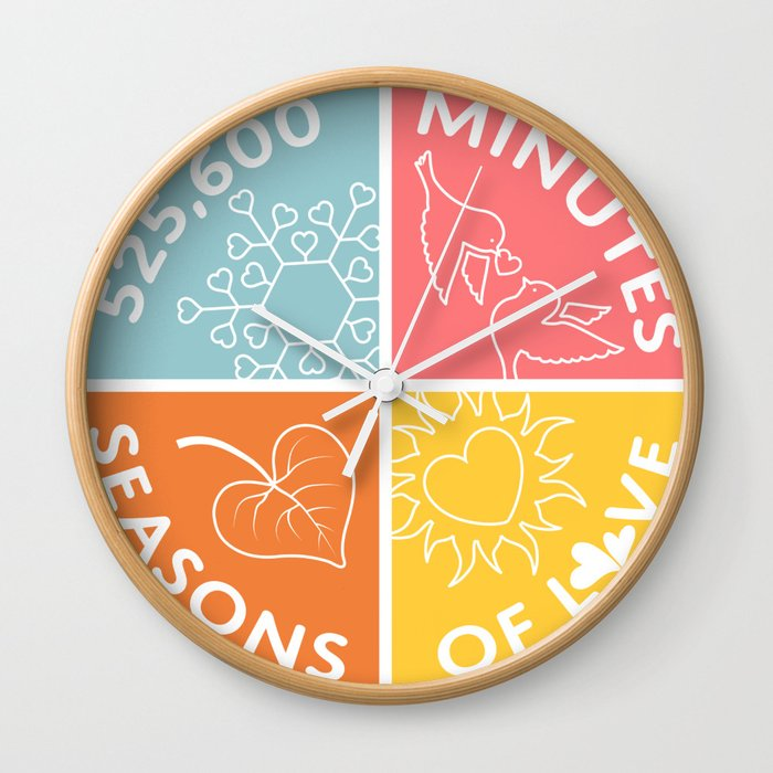 Seasons of Love Wall Clock