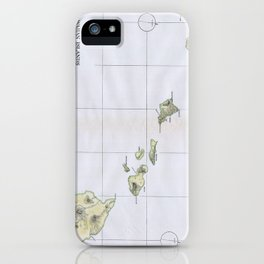 Vintage Map of Hawaii (1883) iPhone Case