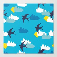 swallow Canvas Prints featuring Swallow by Maedchenwahn