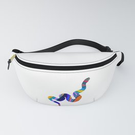 colorful snake abstract digital painting Fanny Pack
