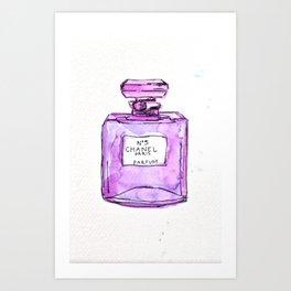perfume purple Art Print