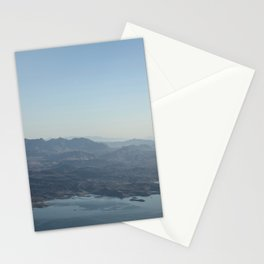 Blue landscape from above Stationery Cards
