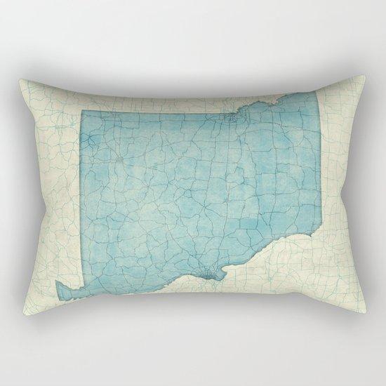 Missouri State Map Blue Vintage Rectangular Pillow