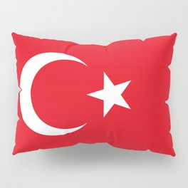 National flag of Turkey, Authentic color & scale Pillow Sham