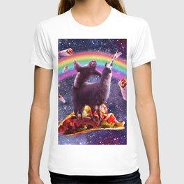 Space Sloth Riding Llama Unicorn - Taco & Burrito T-shirt