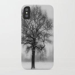 Walking in a winter wonderland iPhone Case